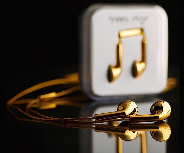 Lavish Gold Plated Earphones