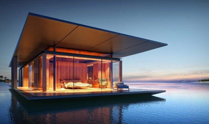 Floats mobile house