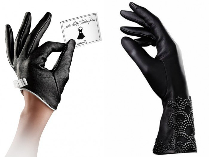Perfumed gloves collaboration between Guerlain and Agnelle