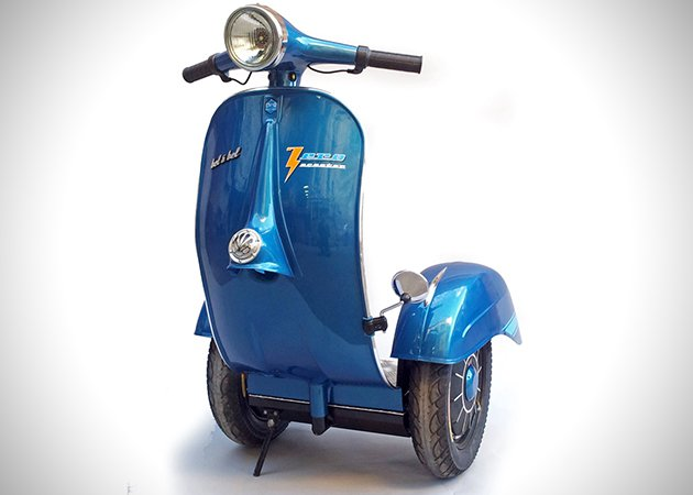 Great-Looking Zero Vespa Segway Scooter by Bel & Bel