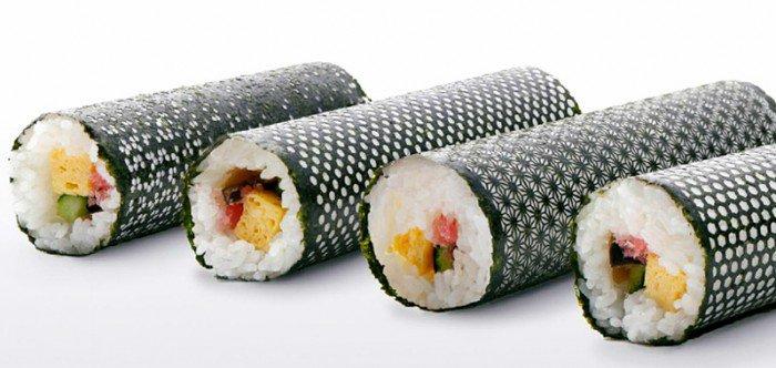 Desing Nori: Laser cut seaweed for sushi