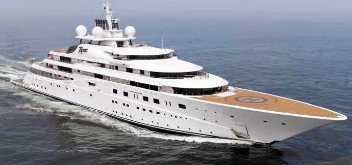 The Topaz luxury yacht