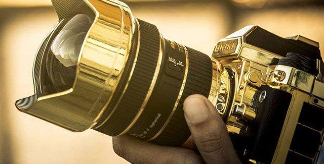 Lavish Nikon DSLR Camera Enveloped In 24K Gold