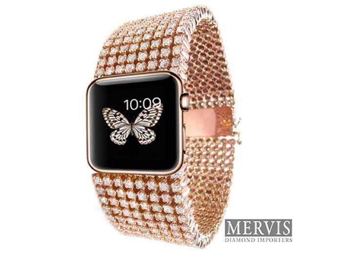 A diamond studded Apple watch