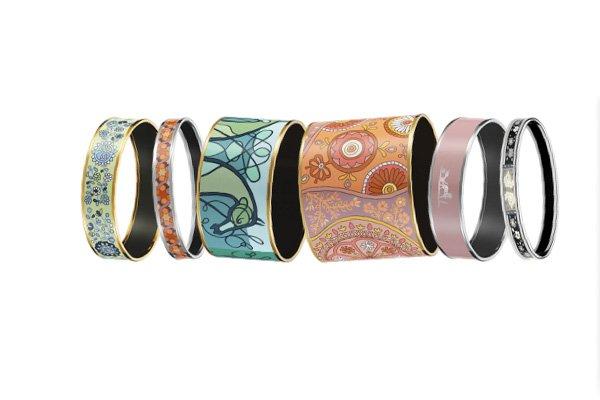 Mix and Match Enamel Bracelets at Hermes