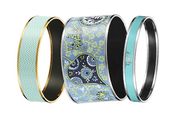 Luxuryretail_Hermes-Enamel-Bracelets-blue