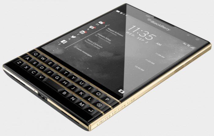 Limited gold blackberry passport