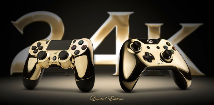 24K GOLD PLATED DUALSHOCK 4 AND XBOX ONE CONTROLLERS