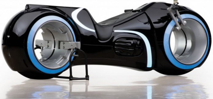 Legacy, full-functional replica of a light cycle from TRON