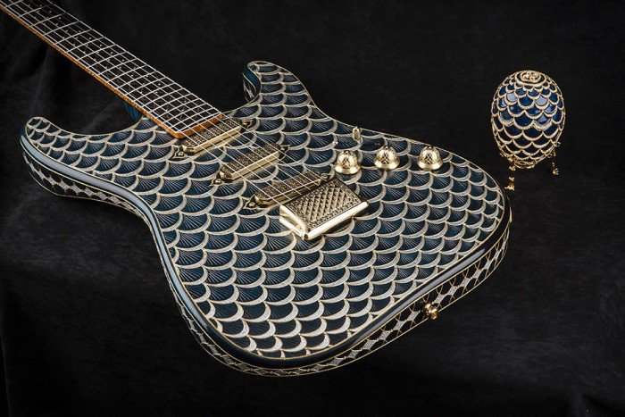 Stratocaster inspired by a Fabergé egg