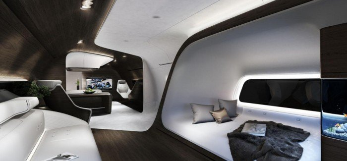 Private Jet Cabin by Lufthansa and Mercedes-Benz
