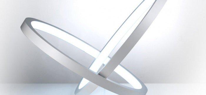 The 'infinity' lamp by Leonardo Criolani