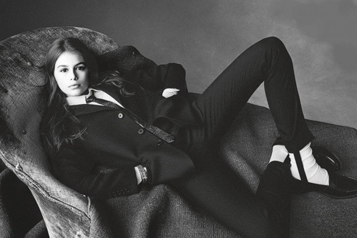 Kaia Gerber on Vogue Italia