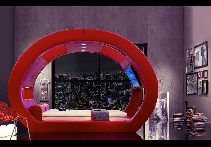 Luxuryretail_Eclipse-Bed-red