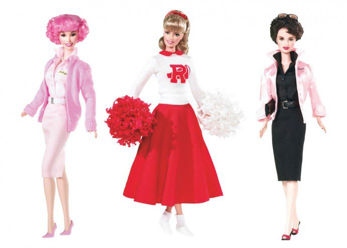 Luxuryretail_Barbie-celebrates-the-Pink-Ladies-from-Grease-in-2004-and-2008-690x494