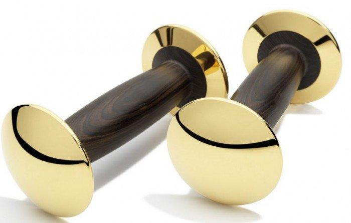 Goldloft 18K Gold Dumbbells