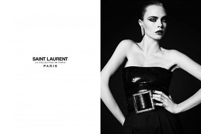 Cara Delevingne for Saint Laurent
