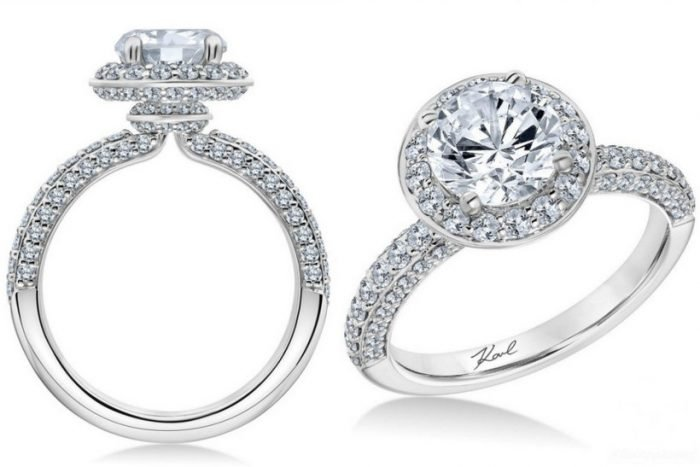 Engagement rings by Karl Lagerfeld