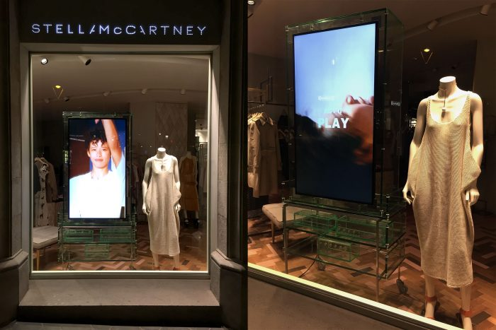 Stella McCartney's windows display in Spain