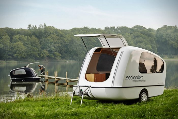 """""""The Sealander """"is a caravan and yacht in one"""