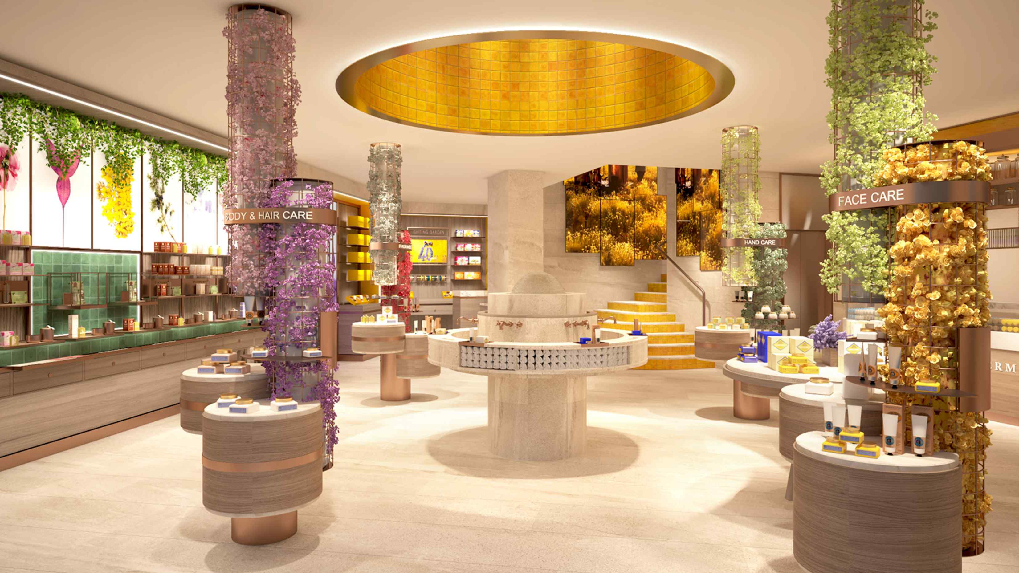 L 39 occitane and pierre herm open communal space in paris Interior design stores london