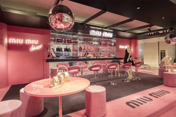 Miu Miu Disco pop-up store, Hong Kong