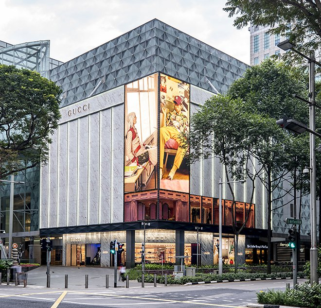 "57cf2472a Gucci's flagship store at Paragon just got ""Guccified"" recently and it is  now officially open. Prior to entering the store, one will already be  overwhelmed ..."