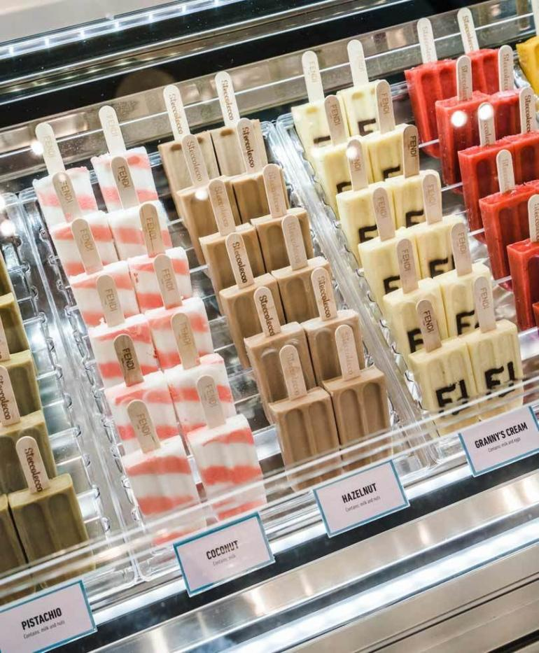e92f325a8ec6 Visitors will be able to purchase lollies from a custom-made FENDI x  Steccolecco Gelato stand.