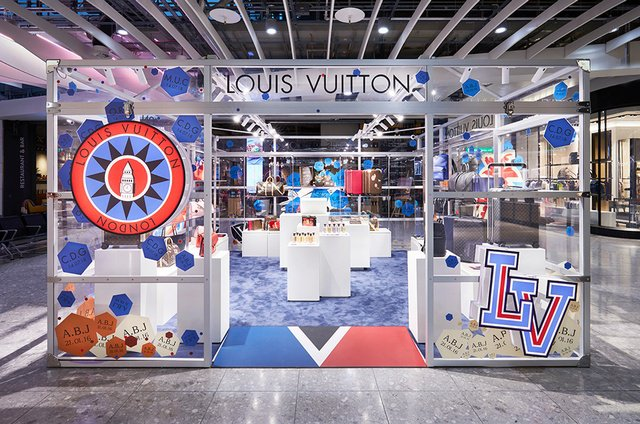 Louis Vuitton pop-up space at Heathrow Airport