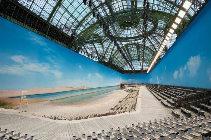 Le Grand Palais Into A Beach For The Chanel Show