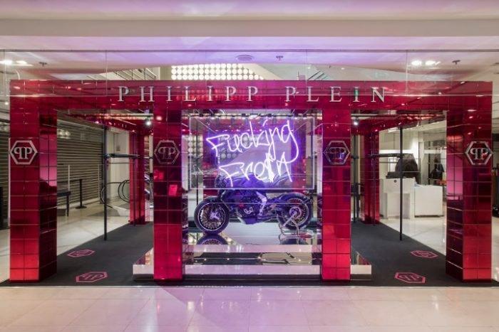 Philipp Plein pop-up store in Paris's Galeries Lafayette
