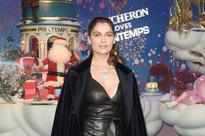 Le Printemps Christmas in Paris whit Laetitia Casta