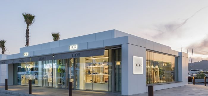 Dior pop up store in Ibiza