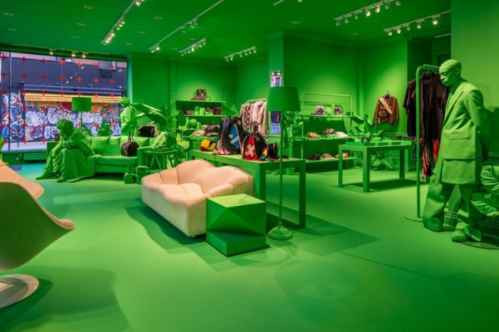 Louis Vuitton's Neon Green FW19 New York Pop-Up