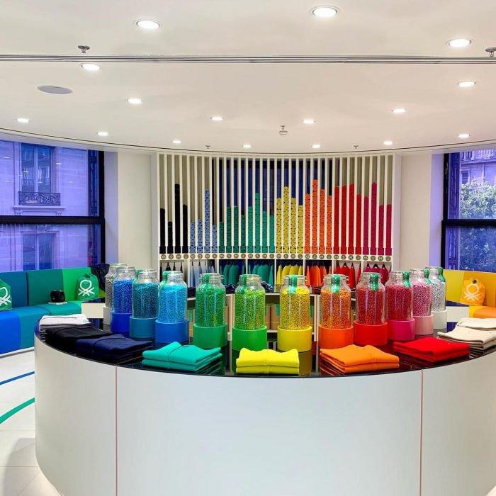 POP UP Benetton rainbow Printemps