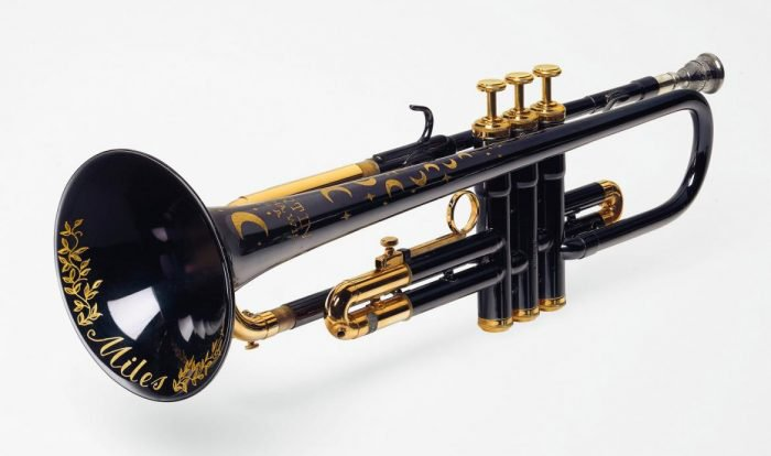 Jazz legend Miles Davis' moon and star trumpet