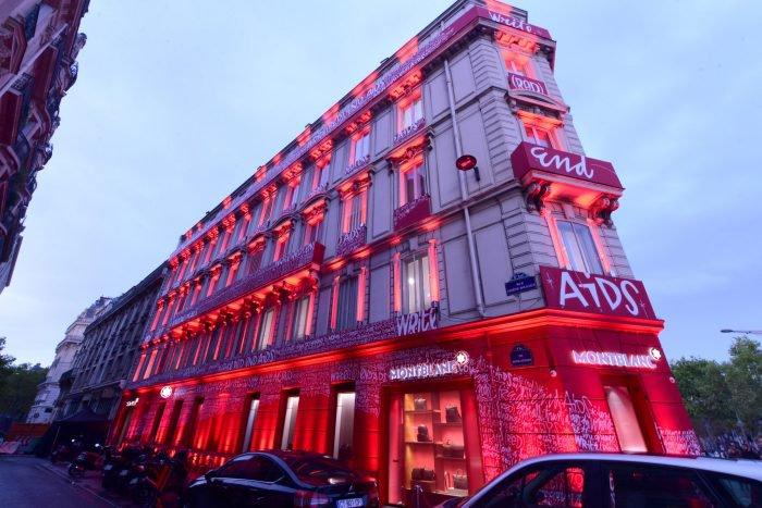 Montblanc Red event, Champs-Elysées