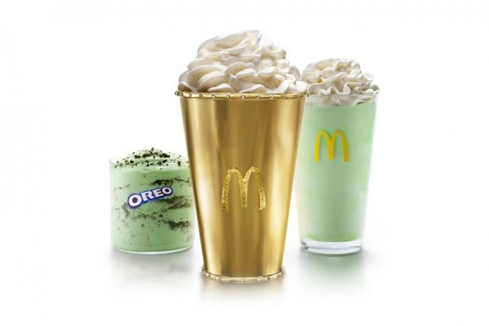 McDonald Golden Shamrock Shake