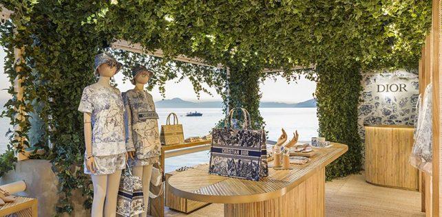 Dior pop up store Capri