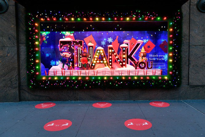 "Macy's Holiday Window ""Give, Love, Believe"""