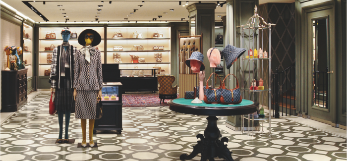 Gucci store opening in Amsterdam